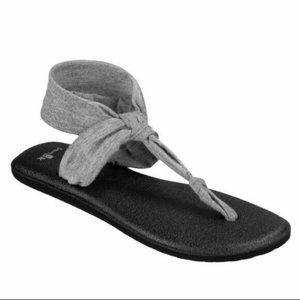 Sanuk Gray Yoga Sling Ella Sandal size 7